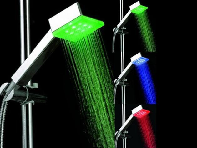 Színváltós LED zuhanyfej