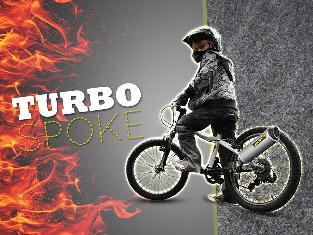 Turbospoke: bicikli kipufogó gyerekeknek - hangja akár egy cross motoré!
