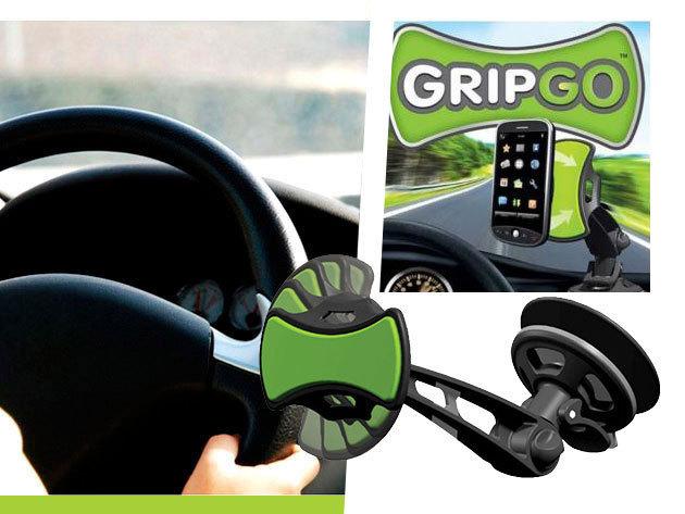 GripGo 360 fokban forgatható univerzális autós telefon és GPS tartó!