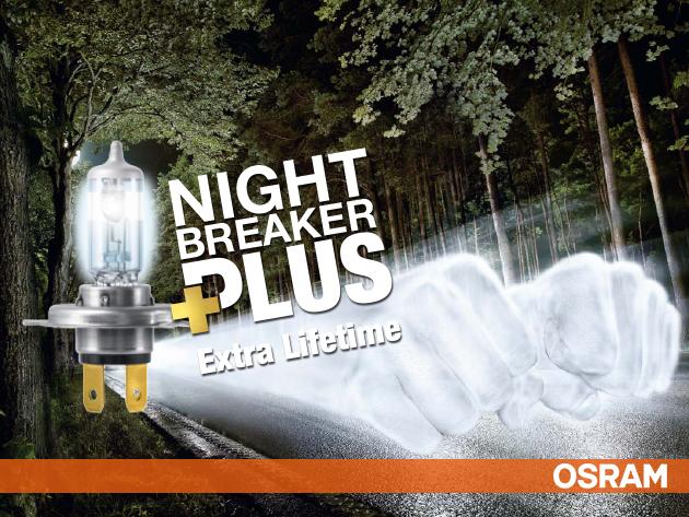 """Osram night breaker plus H1, H4 és H7 – a """"Legjobb fényszóró lámpa díj"""" nyertese"""