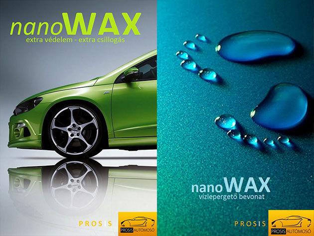 Tavaszi autó nagytakarítás: Prémium Plusz külső-belső komplett tisztítás + nanowax