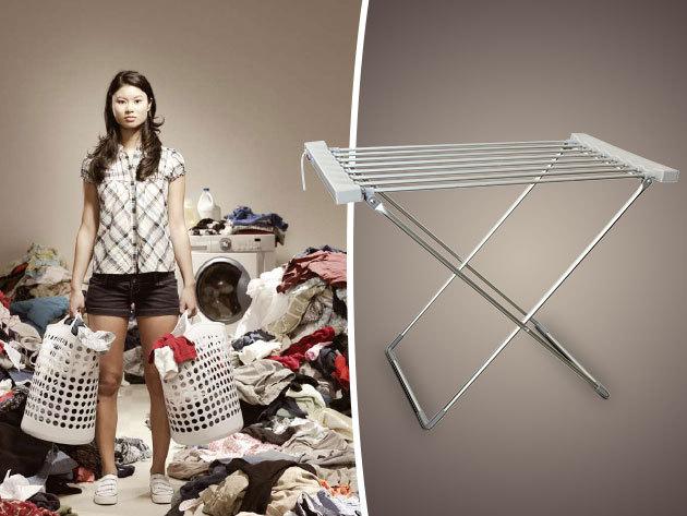 Elektromos ruhaszárító - időtakarékos megoldás a nedves ruhák szárításához