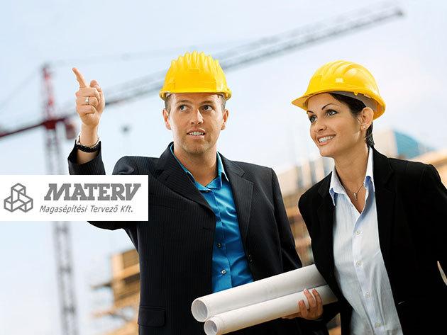 Építésügyi tanácsadás a MATERV-től: 1 órás személyes konzultáció adhoc, vagy előre megküldött anyagok (tervek, fotók), kérdések alapján, a belvárosban