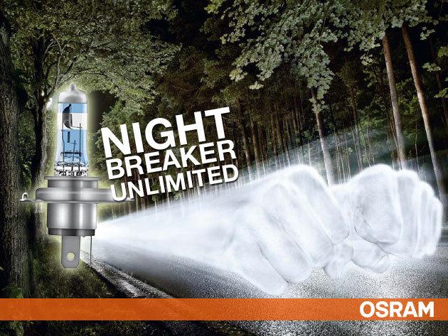 Osram night breaker UNLIMITED H1, H4 és H7 DUO PACK - minőségi fényszóró izzók
