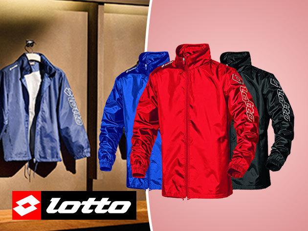Lotto vízálló kapucnis széldzseki nőknek és férfiaknak - fekete, kék és piros színben