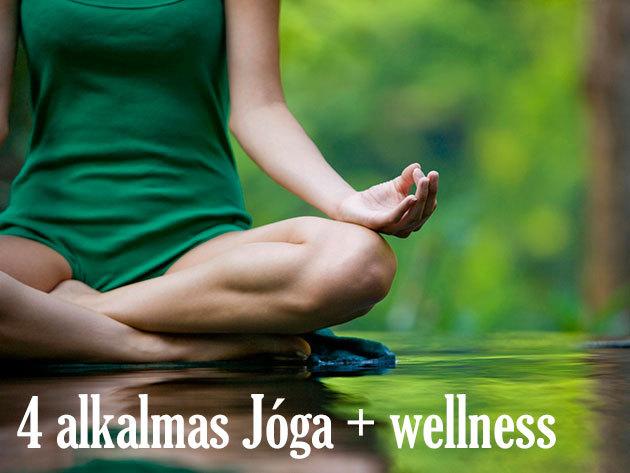 4 alkalmas jóga bérlet wellnessel