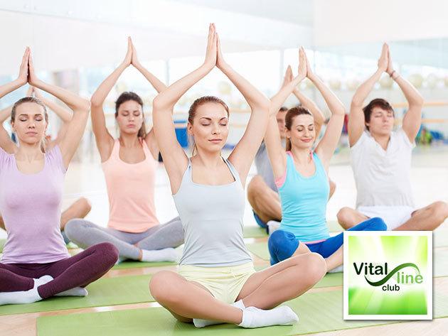 4x90 perces jóga bérlet wellnessel Zugló legszebb zöldövezeti részén, a Vital Line Clubban