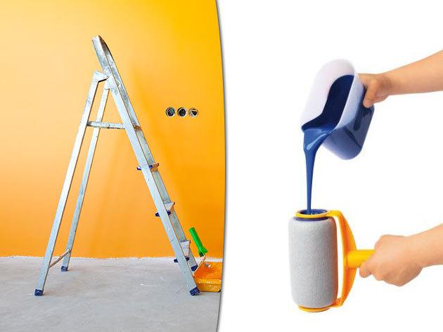 Görgős festőkészlet hosszabbítható nyéllel a könnyű, gyors falfestésért!