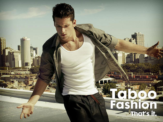 Férfi atléta 100% pamutból a forró nyári napokra, több színben - a Taboo Fashiontól