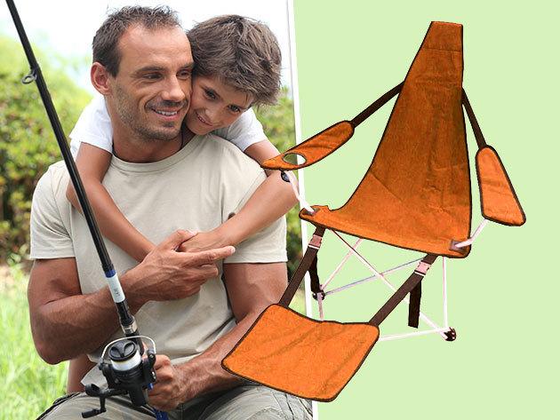 Kempingszék / horgász szék lábtartóval - a hétvégi kiruccanásokhoz