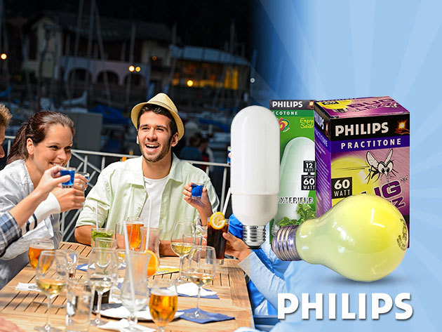 Philips Ecotone kültéri 10.000 üzemórás kompakt fénycső + Philips Buglezzz szúnyogriasztó izzó
