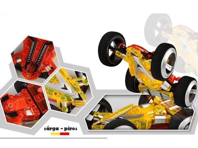 3D kaszkadőr autó (sárga-piros)