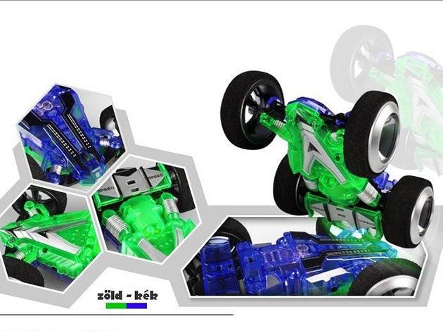 3D kaszkadőr autó (kék-zöld)