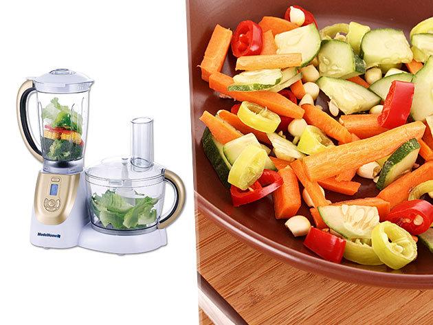 ModelHome multifunkcionális konyhai robotgép - gyümölcscentrifuga, turmix, daráló és aprító készülék egyben