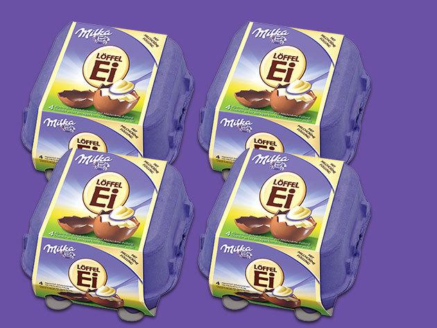 16 db Milka Löffel Ei tejikrémmel töltött csokitojás (4 doboz)
