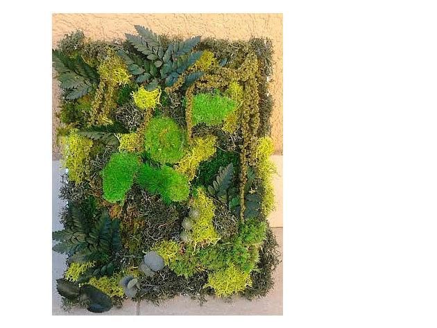 3D tartósitott örökzöld falikép (45 x 25 cm)