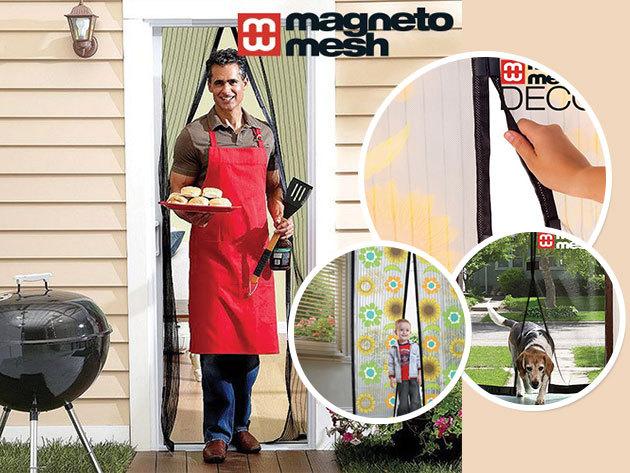 Magneto Mesh - mágneses szúnyogháló ajtóra trendi mintákkal (210x100cm)