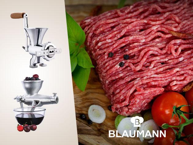 Minőségi húsdaráló, mák- és diódaráló, gyümölcs és búzacsíra daráló, valamint zöldség passzírozó a Blaumanntól!