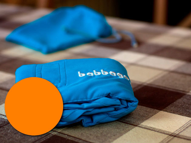 babbago - székre tehető textil etetőszék - NARANCS