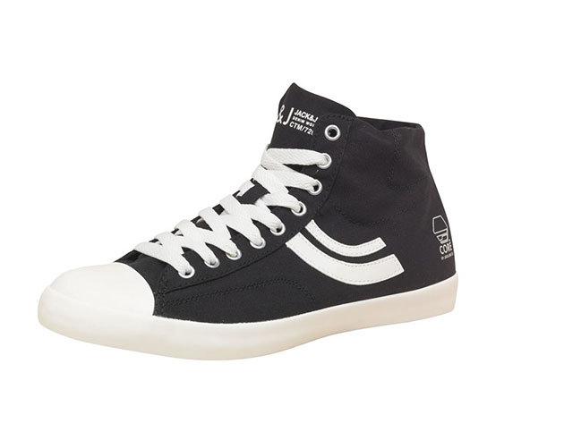 Jack & Jones férfi vászon cipő - fekete