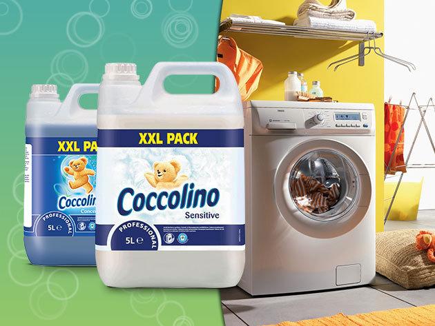 Tavaszi nagymosás: Coccolino White és Blue ruhaöblítő 5 literes kiszerelésben!