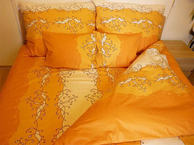 Narancs ágyneműhuzat garnitúra