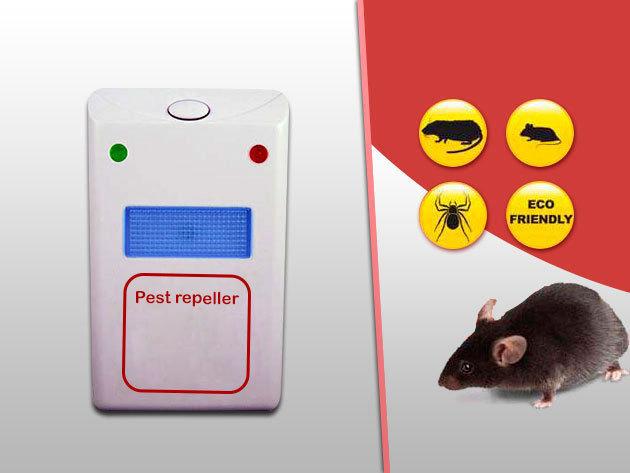 Pest Repeller - Ultrahangot kibocsátó, elektromos rágcsáló- és rovarriasztó készülék
