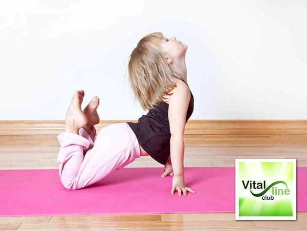 4 alkalmas jóga bérlet gyerekeknek wellnessel Zuglóban, a Vital Line Clubban