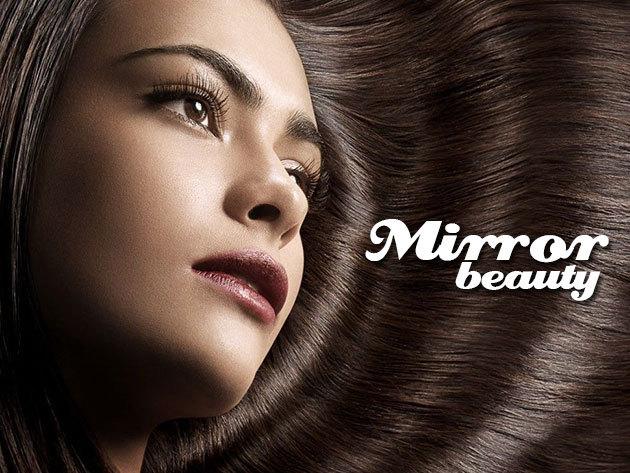 Hajhosszabbítás 41-50 cm hosszú európai hajjal, 120 tincs, mikrokeratinos hőillesztési technikával, belvárosi szalonban
