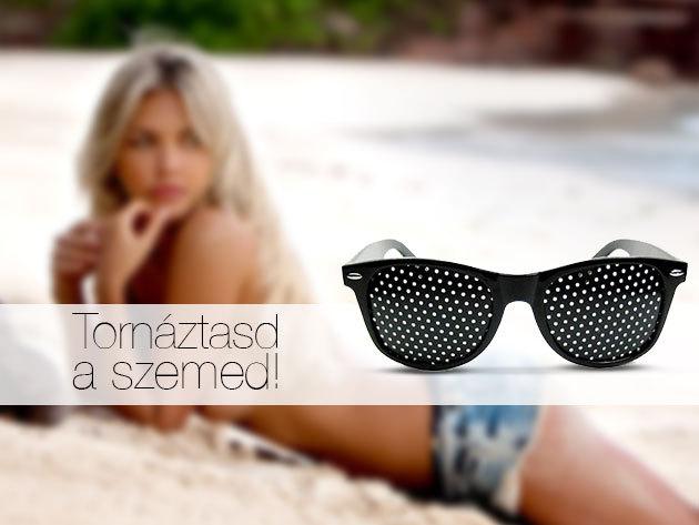 Szemtréner szemüveg, fekete kerettel - javítja a látóképességet!