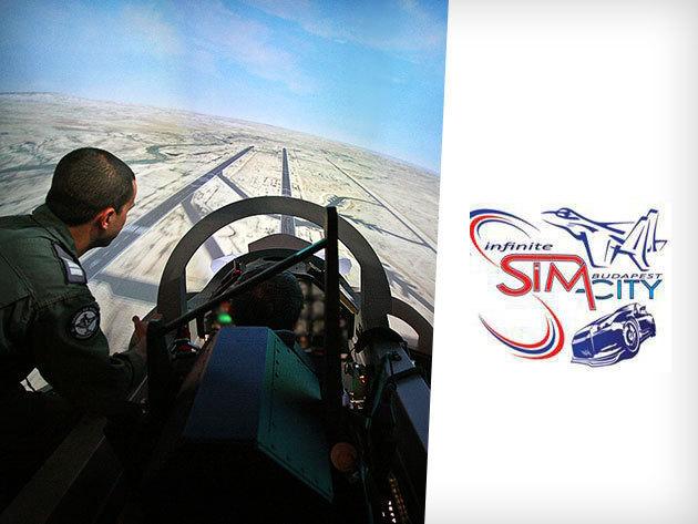 1 óra vadászrepülőgép szimulátorozás - száguldj igazi pilótaként a Sim-cityben