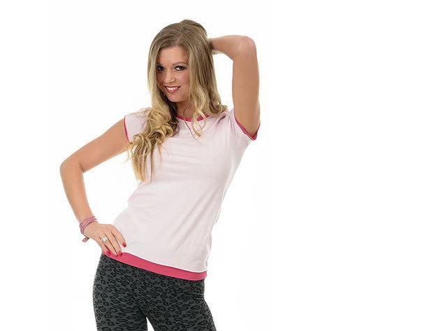 Rózsaszin-pink rövid ujjú póló