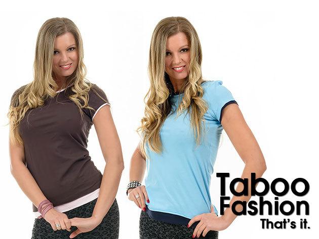 Kényelmes rövid ujjú női póló 100% pamutból, több színben - a Taboo Fashiontól