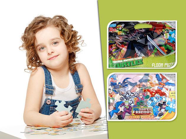 Puzzle 2 méretben, 3 féle mintával: Batman, Szuperhősök és Tini Nindzsa teknősök - 3 éves kortól