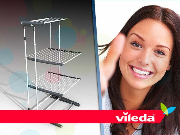 VILEDA Viva Dry Multiflex toronyszárító mozgatható polcokkal, 20 m szárítófelülettel!