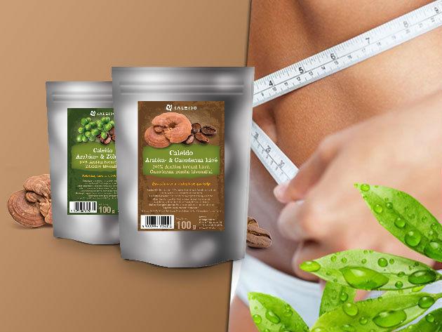 Caleido Arabica természetes instant kávék - fogyasztó hatású Zöldkávé és Ganoderma kávé 50 és 100 gramm kiszerelésben