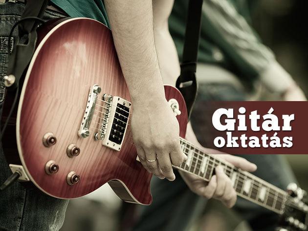 Tanulj gitározni az ATLANTIS zenekar gitárosától négy alkalmon keresztül!