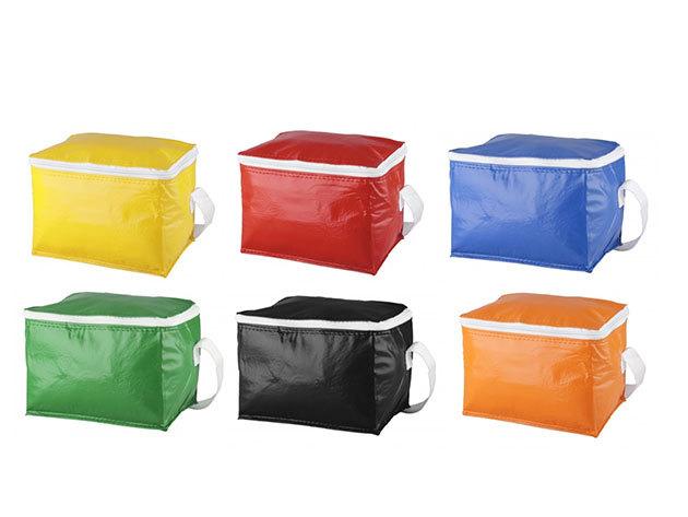 Hűtőtáska 6 db 0,33L-es üdítőhöz (6 színben) - 210×150×150 mm