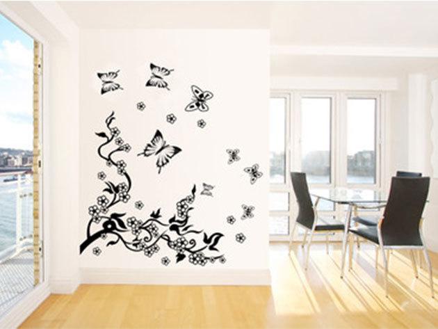 Fekete ág falmatrica (A kirakható ág mérete kb 90x70cm)