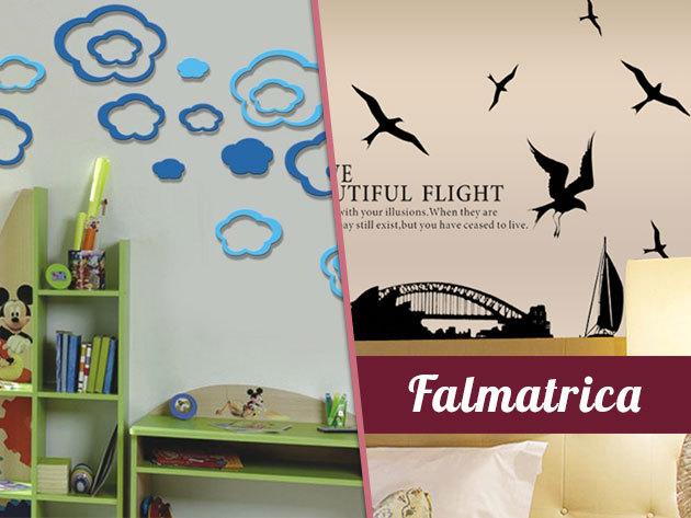 Egyedi, 3D-s és dizájn óriás falmatricák – dobd fel kreatívan otthonod falait. Új minták!