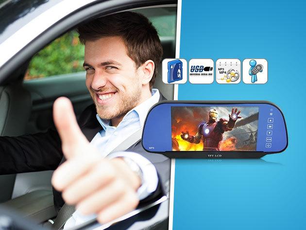 Multifunkciós készülék: Autós multimédia lejátszó, bluetooth kihangosító, FM transmitter, tolatókamera