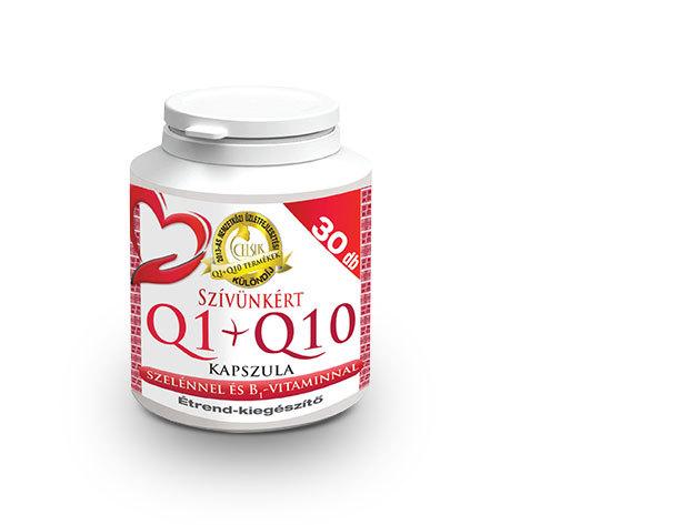 Celsus Szívünkért Q1+Q10 kapszula szelénnel és B1 vitaminnal (30 db kapszula, 1 havi adag - 83Ft/kapszula)