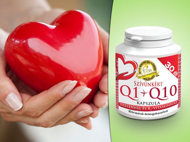 Celsus Szívünkért Q1+Q10 kapszula szelénnel és B1 vitaminnal - egy havi adag