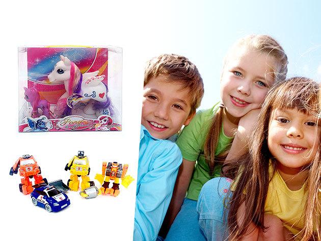 Játékdömping: Dinosaurus régész készlet, Csodateknős, Csoda póni szett, Gyöngyfűző, Transformers és Játék konyha