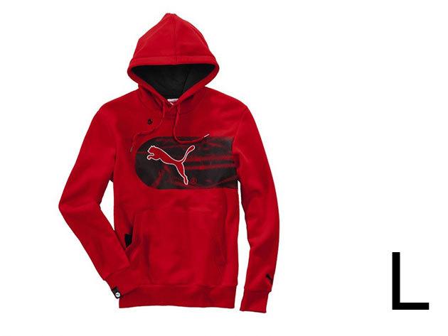 Puma Logo Hooded férfi, piros pamut felső (L)
