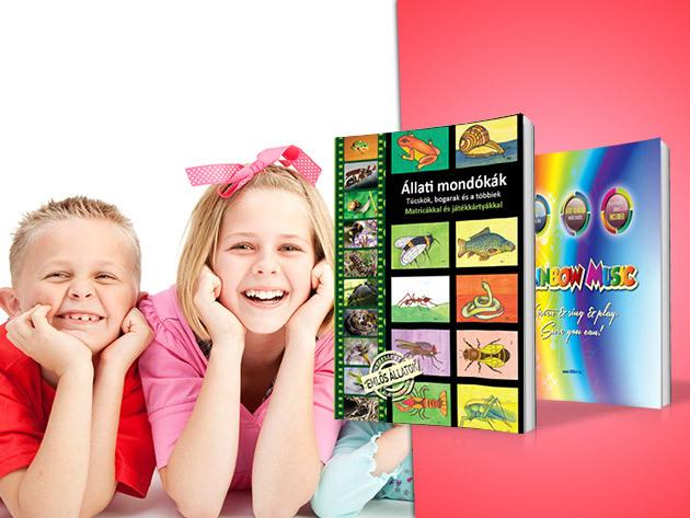 Állati mondókák I. II. és Rainbow music - Magyar és angol nyelvű gyermek könyvek a játékos tanuláshoz