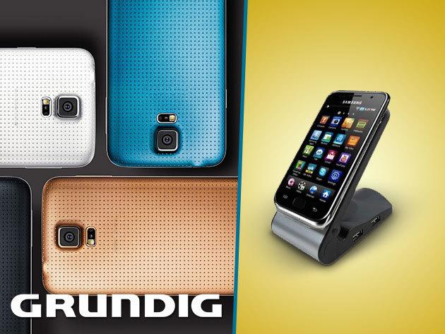 Grundig telefontöltő állomás MiniUSB, Nokia és Samsung csatlakozó fejekkel