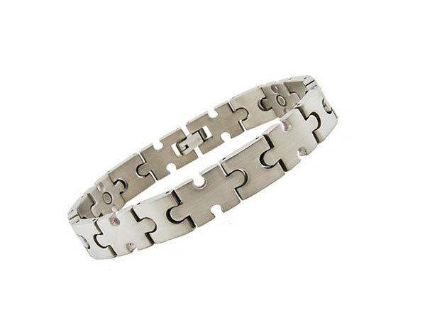 Mágneses Titánium Puzzle Karkötő - Puzi (G-7034)