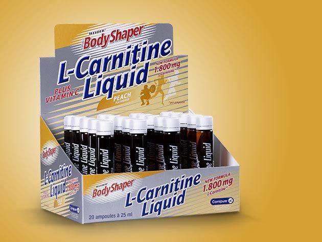 Weider Bodyshaper L-Carnitine Liquid - Barack (1800 mg/500 ml - 20 x 25 ml)