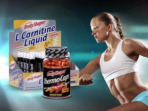 Fittness termékek fogyáshoz és sportoláshoz: Bodyshaper L-Carnitine Liquid és Thermo Caps